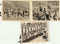 Vintage photograph, good looking shirtless young soldiers, gay interest