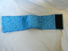 "Dog Puppy Belly Band Wrap Contoured Diapers Male Puppy Flannel lined 19.5"" BONES"