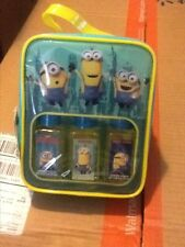 MINIONS 4piece BATH SET IN A BAG EASY STORAGE TO HANG IN YOUR BATHROOM