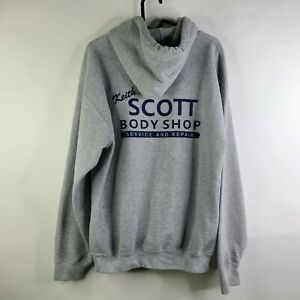 Gildan Heavy Blend Keith Scott Body Shop Auto Hipster Pullover Hoodie Size M