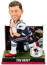 "New England Patriots Tom Brady 4th Super Bowl Win BobbleHead 10"" NIB 2015"