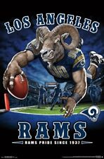 Los Angeles Rams RAMS PRIDE SINCE 1937 End Zone TD Dive NFL Art POSTER