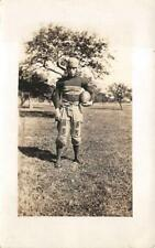 RPPC FOOTBALL PLAYER  SPORTS REAL PHOTO POSTCARD (c.1920)