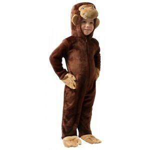 Curious George Costume Toddler Baby Kids Halloween Fancy Dress