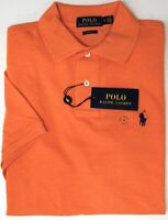NEW $89 Polo Ralph Lauren Short Sleeve Classic Fit Shirt Mens Orange Mesh NWT