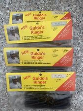 4 Packs Vintage Guido's Ringer Plastic Worms