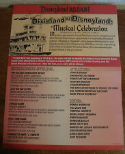DISNEY 2015 EDITION DIXIELAND AT DISNEYLAND SOUVENIR PROGRAM BROCHURE, AP EVENT