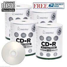 400 Pcs SmartBuy CD-R 52X 700MB 80M Silver Inkjet Hub Printable Recordable Disc