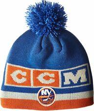 the best attitude 48e87 9f668 New York Islanders NHL CCM Blue Pom Ball Knit Hat Skull Cap Adult Winter  Beanie