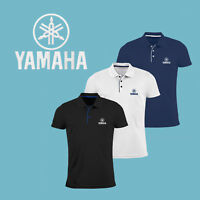 Homme Yamaha Slim Fit Polo T Shirt Auto Logo Brodé Tee Moto Sport Motocyclette