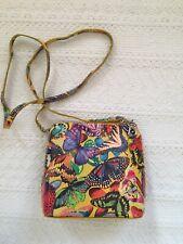 Borse in Pelle Ladies Italian Small Handbag Mini Floral Yellow Multicoloured