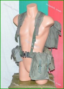 Bulgarian Army canvas Webbing Gear set of Harness Pouches & Backpack