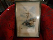 Water colour Marine painting by Charles E Turner