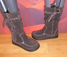 *48* SUPERB ALDO BROWN LEATHER SUEDE SLOUCH WEDGE BOOTS EU 36