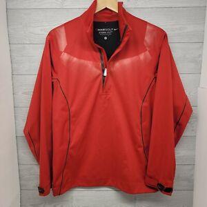 Nike Golf Storm-Fit Waterproof Red Pullover Half Zip Jacket Small
