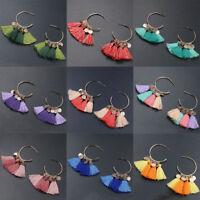 Fashion Bohemian Earrings Women Vintage Long Tassel Fringe Boho Dangle Earrings