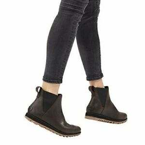 Sorel Women's Harlow Chelsea Waterproof Ankle Bootie SIZE 9.5 BLACKENED BROWN