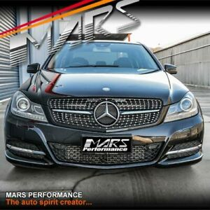 C43 AMG Star Style Bumper bar Grille Grill for Mercedes-Benz C-Class W204 C204