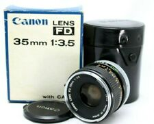 Canon FD 35mm 1:3.5 Wide Angle Lens w/Case *As Is* #J001f