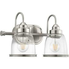 Progress Lighting Saluda Collection 2-Brushed Nickel Bath Light