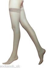2 Pairs Ladies Women's Soft Shine Hold up Stockings 15 Denier Black or Natural 14-16 UK Natural Tan