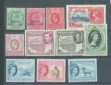 Somaliland 1903-53 small range of 11 stamps MH
