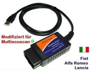 Interface AutoDia für Fiat Alfa Romeo Lancia OBD 2 Diagnose OBD2 Tester USB