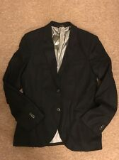 Armani Exchange A|X Men's Luxurious Italian Fabric Raw Edge Blazer D6K855MA