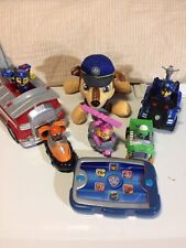 9 Piece Paw Patrol Action Figure Vehicles And Spanish/English Paw Pad!