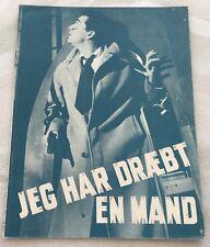 Confession Sydney Chaplin Audrey Dalton Clifford Vtg 1955 Danish Movie Program