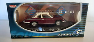 SOLIDO  chine   PANHARD 24 CT 1964  ech 1/43   édition limitée CLUB SOLIDO  neuf