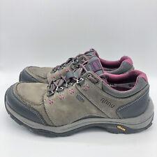 AHNU Teva 9 US Women Montara III Charcoal Grey Leather Hiking Boots Shoe