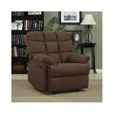 Wall Hugger Recliner Chair Brown Oversized Living Room Furniture Chaise Lounge