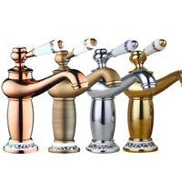 Mordern Bathroom Basin Faucet Antique Brass Chrome Sink Mixer Single Handle Taps