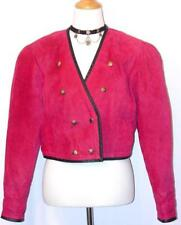 PINK ~ LEATHER Women German Austria Designer SHORT Fitted Winter JACKET 40 10 M