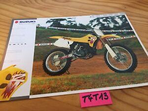Suzuki RM125 125 RM Catálogo Moto Folleto Publicidad Prospecto