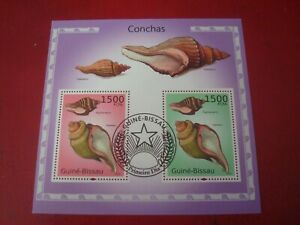 GUINEA-BISSAU - 2010 SHELLS - MINISHEET - UNMOUNTED USED SOUVENIR MINIATURE