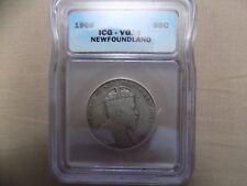 1908 newfoundland fifty cent coin VG10  (C377)