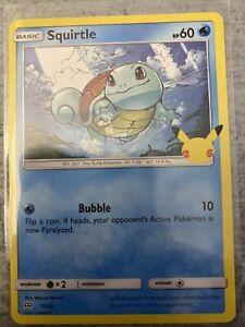 2021 Pokémon NON HOLOGRAM CARD McDonald's Toy SHIPS Next Day Squirtle 17/25