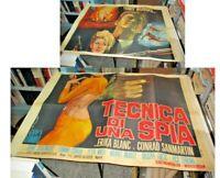 TECNICA DI UNA SPIA manifesto 4F originale 1966 TONY RUSSEL ERIKA BLANC