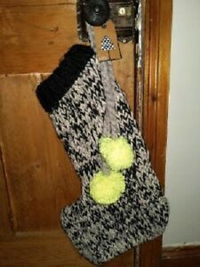 Next Chunky Knit Grey/Black/Ivory Christmas Stocking Brand New With Tags!