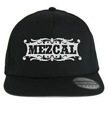 Chapeau Mezcal,SnapBack Casquette noir avec logo Distillat mexicain,Mescal