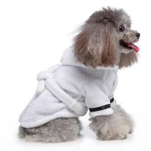 Fleece Pet Absorbent Night Robe Dog Pajamas Dog Bathrobe Dressing Absorbing Gown