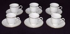 6 Lenox Hannah fine Bone China White with Gold Debut Collection 91709 20909 USA