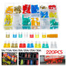 220x Mini Blade Fuse Assortment Car Truck Home Fuses Kit 5 7.5 10 15 20 25 30Amp