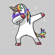 "Dabbing Unicorn Rainbow Fluff Magical Mystical Purple Pink 2"" Cool Sticker"
