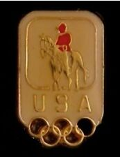 Equestrian Olympic Pin Badge 1996~Atlanta~mini size~domed enamel~USA logo~5 ring