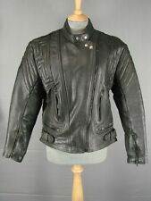 SUPERB QUALITY AKITO T-FORCE CLASSIC BLACK LEATHER BIKER JACKET SIZE 16