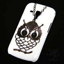 Samsung Galaxy S Duos s7562 HARD CASE GUSCIO PROTETTIVO ASTUCCIO motivo gufo catena OWL