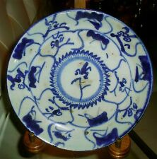 Antique Kangxi Marked Chinese Blue And White Export Plate